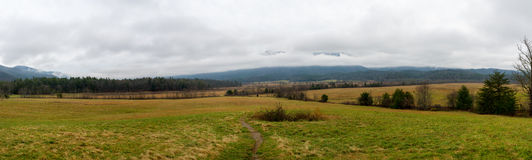 Panoramic View of Cades Cove Stock Images