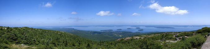 Panoramic view from Cadillac Mountain,park Acadia Royalty Free Stock Photography