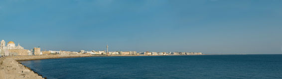 Panoramic view of Cadiz Royalty Free Stock Images