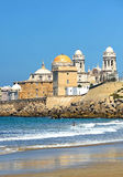 Panoramic view of Cadiz with the Cathedral, Andalusia, Spain Royalty Free Stock Photos