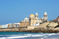 Panoramic view of Cadiz with the Cathedral, Andalusia, Spain Stock Photography