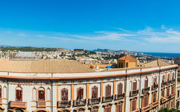 Panoramic view of Cagliari on a clear day Royalty Free Stock Photos