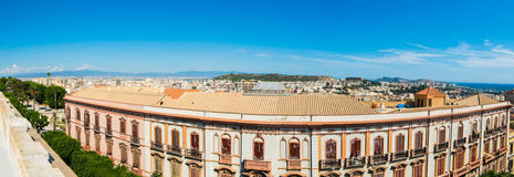Panoramic view of Cagliari on a clear day Stock Photo
