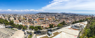 Panoramic view of Cagliari old town, Sardinia, Italy Royalty Free Stock Images