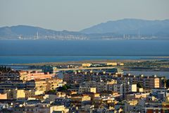 Panoramic view of Cagliari royalty free stock photos