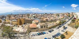 Panoramic view of Cagliari, Sardinia, Italy Stock Image