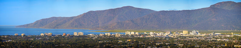 Panoramic view of Cairns City Royalty Free Stock Photography