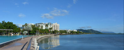 Panoramic view of Cairns waterfront skyline Stock Image