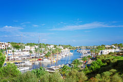 Panoramic view of the Cala D'Or yacht marina harbor Royalty Free Stock Photography
