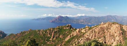 Panoramic view on Calanche de Piana gulf Royalty Free Stock Photo