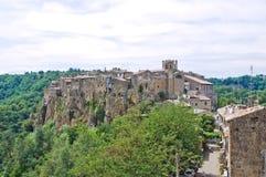 Panoramic view of Calcata. Lazio. Italy. stock photo