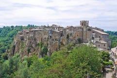 Panoramic view of Calcata. Lazio. Italy. Stock Images