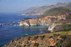 Panoramic View of California Route 1 Stock Photos