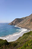 A panoramic view of California's scenic coastline along scenic Route 1 Stock Photos