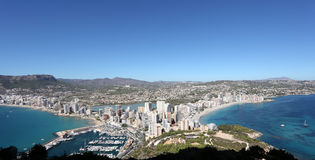 Panoramic view of Calpe, Spain Royalty Free Stock Photo