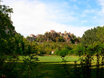 Panoramic view Calvignac France Stock Photo