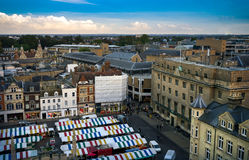 Panoramic view of Cambridge, UK. September 2016 Stock Images