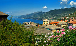 Panoramic view of Camogli Stock Images