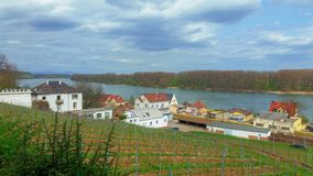 Panoramic view of the canal from an old village in Germany royalty free stock image