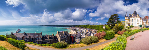 Panoramic view of Cancale, located on the coast of the Atlantic Royalty Free Stock Photos