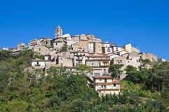Panoramic view of Cancellara. Basilicata. Italy. Royalty Free Stock Images