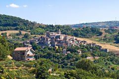 Panoramic view of Cancellara. Basilicata. Italy. Royalty Free Stock Photography