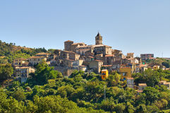 Panoramic view of Cancellara. Basilicata. Italy. Stock Image