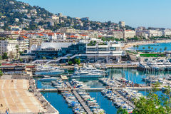 Panoramic view of Cannes, France. Stock Image