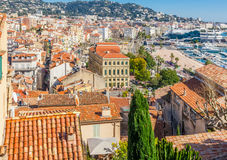 Panoramic view of Cannes, France. Stock Photography