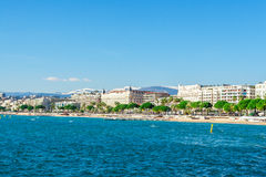 Panoramic view of Cannes, France. Royalty Free Stock Photography