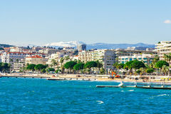 Panoramic view of Cannes, France. Royalty Free Stock Image