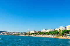 Panoramic view of Cannes, France. Royalty Free Stock Photos