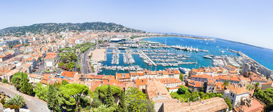 Panoramic view of Cannes, France Royalty Free Stock Photo
