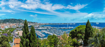 Panoramic view of  Cannes Stock Images