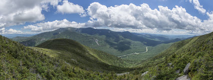 Panoramic View from Cannon Mountain, New Hampshire. Panoramic View from Cannon Mountain in Franconia Notch State Park, New Hampshire, USA - showing Interstate 93 stock photography