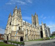 Panoramic View of Canterbury Cathedral in Springtime, UK Royalty Free Stock Photos
