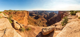 Panoramic view of canyon at Dead Horse State Park Royalty Free Stock Images