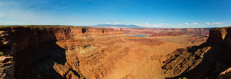 Panoramic view of canyon at Dead Horse State Park Royalty Free Stock Photo