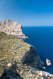 Panoramic view of Cape Formentor. Mallorca. Panoramic view of Cape Formentor and the Mediterranean Sea on a sunny day Stock Photo