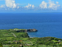 Panoramic view of Cape Hedo, northern most part of Okinawa Stock Photography