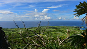 Panoramic view of Cape Hedo in Okinawa Royalty Free Stock Images