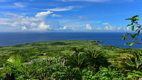 Panoramic view of Cape Hedo in Okinawa. Panoramic view of Cape Hedo, northern most part of Okinawa, Japan Stock Photo