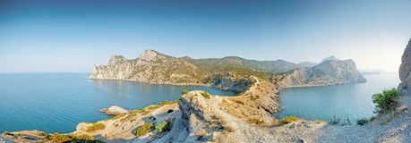 A panoramic view from Cape Kapchik. Royalty Free Stock Photo