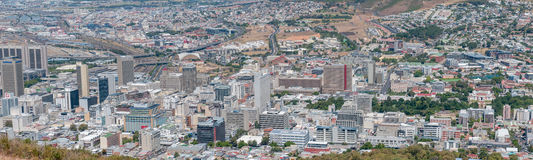 Panoramic view Cape Town central business district Royalty Free Stock Image