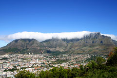 Panoramic view of Cape Town South Africa Royalty Free Stock Photo