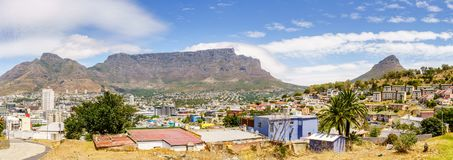 Panorama of Cape Town stock images