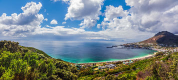 Panoramic view of Capetown. Majestic scene of coastal cityscape, summer vacation, travel and tourism concept stock photography