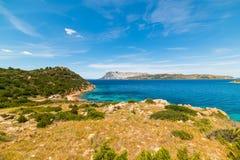 Panoramic view of Capo Coda Cavallo Stock Photos