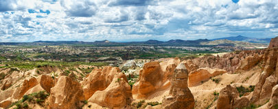Panoramic view of Cappadocia Royalty Free Stock Images