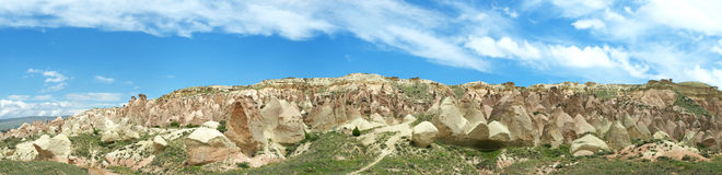 Panoramic view of Cappadocia Royalty Free Stock Photos